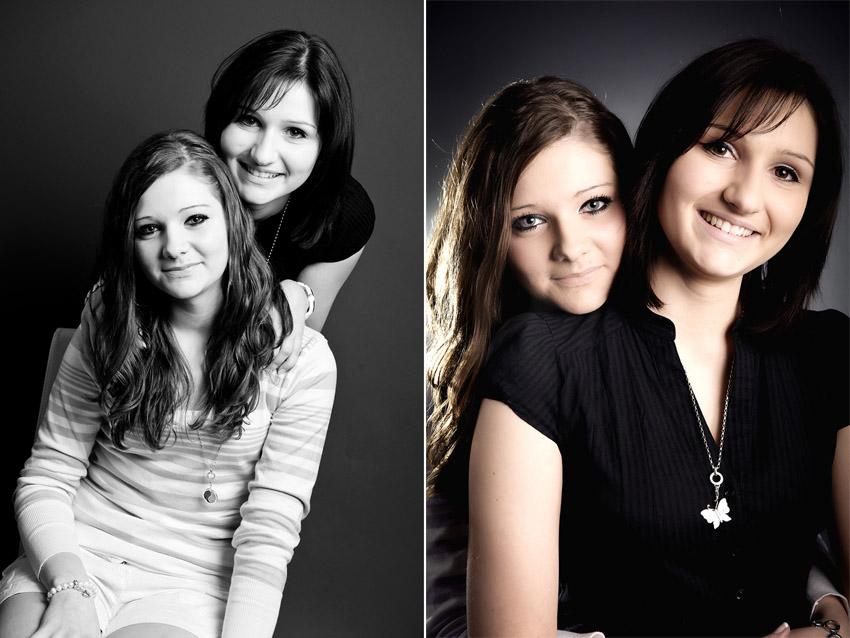 Schwestern Freunde Fotoshooting